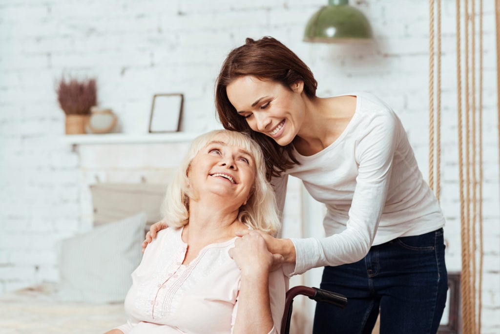 Home care caregiver and elderly woman in Glendale, CA