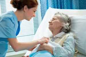 Senior woman and In-Home respite caregiver in Glendale, CA